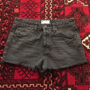 NEW Free People Black Jean Shorts Size 27